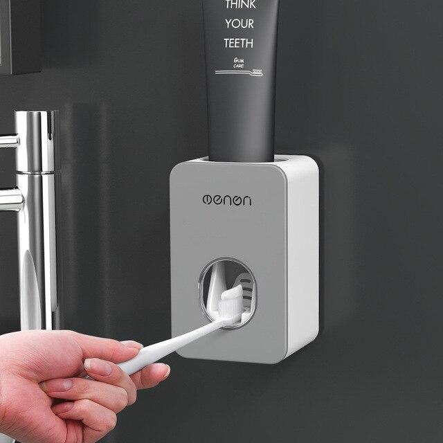 Automatyczny dozownik pasty do zębów akcesoria łazienkowe zestaw pasta do zębów Squeezers szczoteczka do zębów uchwyt wieszak montażu na ścianie łazienki narzędzia