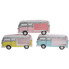Wood Camper Van Shaped Money Box Creative Car Shape Saving Money Box Coin Piggy Bank Ceramic Bus Piggy Bank Kid Toys Gifts(China)