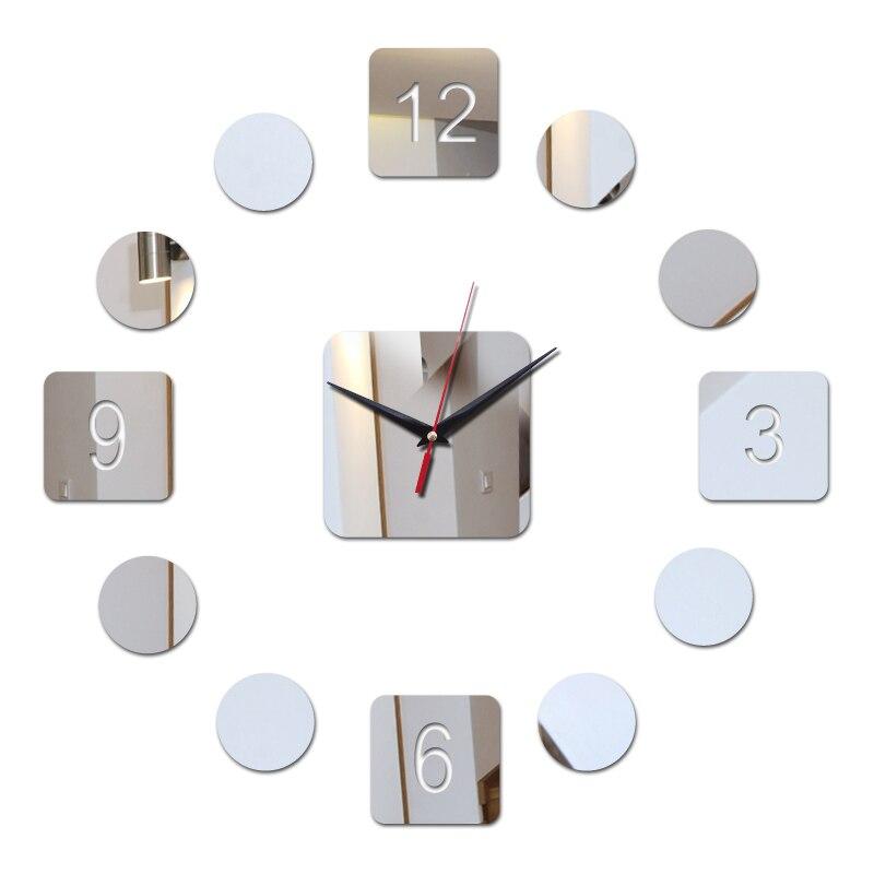 direct selling diy acrylic mirror stickers sticker sofa background modern living room home decor diy wall clocks