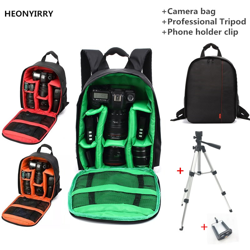 Waterproof Digital DSLR Camera Bag Camera Backpack for Video Camcorder Mochila Fotografia Double Shoulder Bags for
