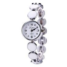 лучшая цена 2019 Ladies Watch Women Bracelet Watches Rhinestone Silver Steel Belt Round Dial Female Watch Quartz Movement Female Clock Gift
