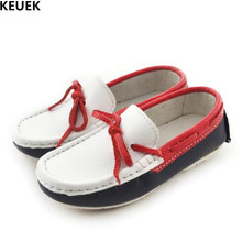 New Kids Leather Shoes Boys Loafers School Dress Shoes Student Genuine Leather Single Shoes Children Baby Toddler Flats 019 children kids boys leather shoes genuine leather shoes new black autumn boys school uniform dress shoes casual oxfords wide fit