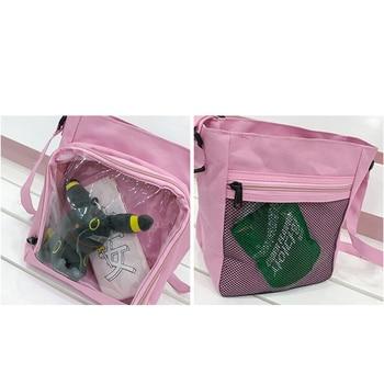 Harajuku Creative Clear Women Shoulder Messenger Bags Oxford Female  Crossbody Bag itabag Travel Small Square Bag Bandolera 2019