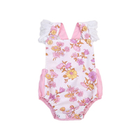 New Newborn Infant Baby Boy Girl Lace Floral Romper Jumpsuit Outfits Summer Clothes