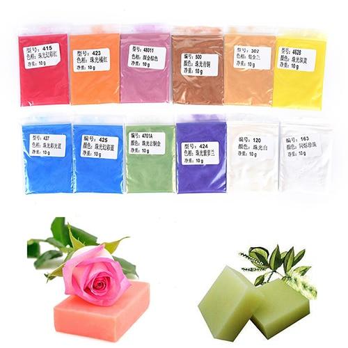 Handmade Soap 10g Healthy Natural Mineral Mica Powder DIY For Soap Dye Soap Colorant Makeup Eyeshadow Soap Powder Skin Care