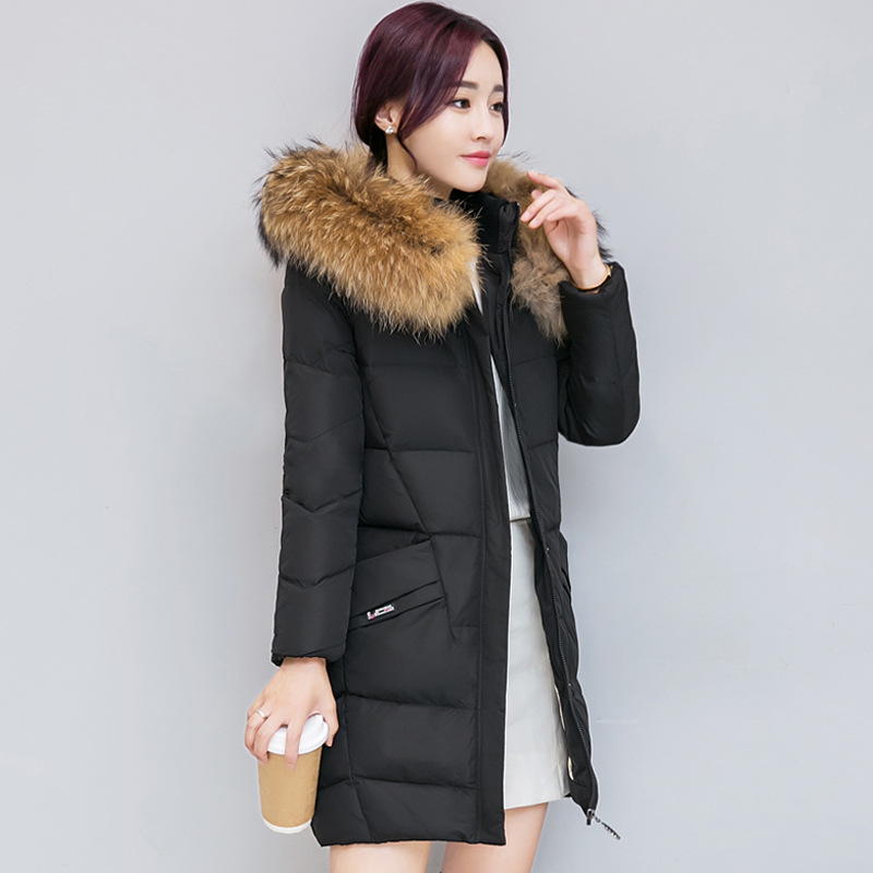 2017 winter hooded jacket women cotton wadded overcoat medium-long slim casual fashion parkas XXXL Manteau Femme coat new 2017 winter hooded jacket women cotton wadded overcoat medium long slim casual fashion parkas female denim blue coats cm1509