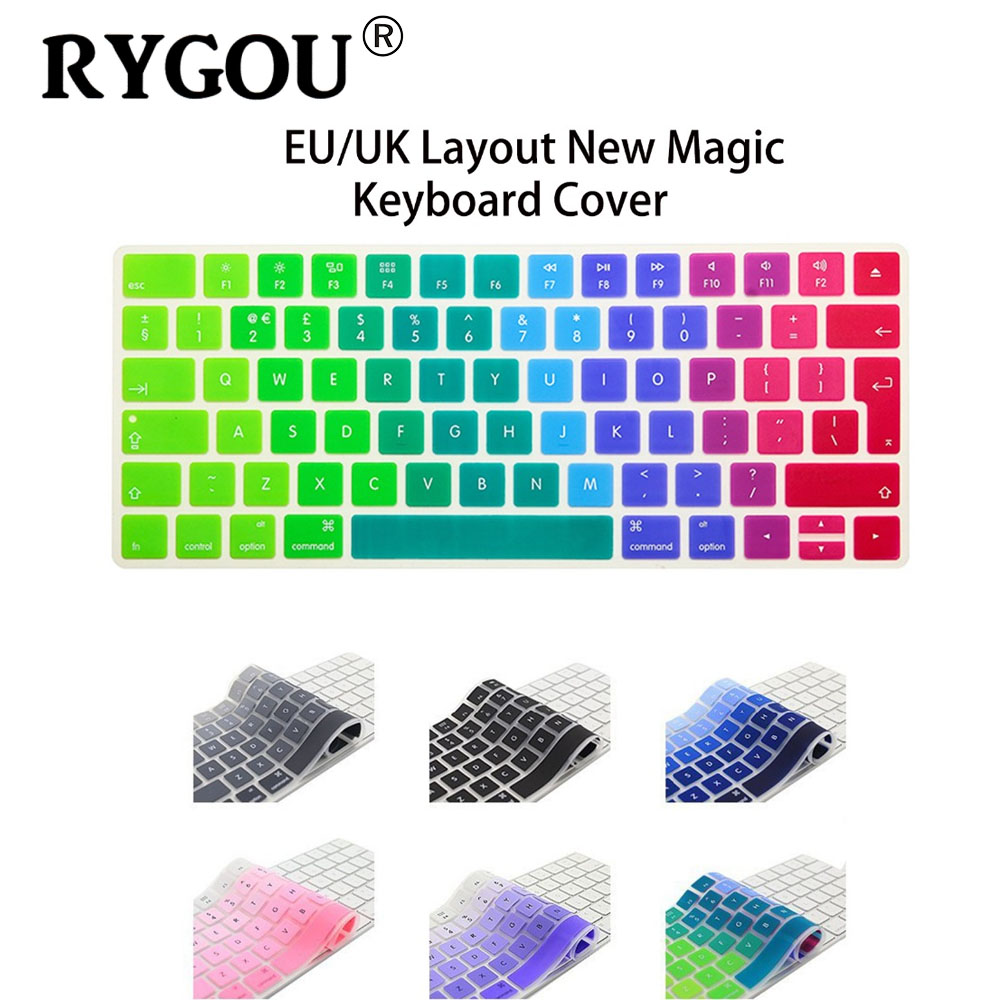 rygou eu english version wireless keyboard silicone keyboard cover protector skin for apple new. Black Bedroom Furniture Sets. Home Design Ideas
