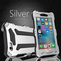 R JUST Life Waterproof Shockproof Metal Cover Case For IPhone 5 5S SE 6 6S 7