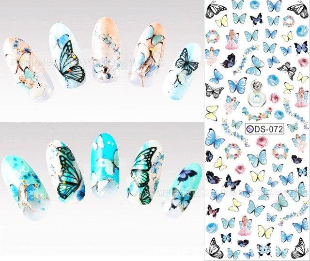 Us 096 Schmetterling Nagel Nagel Abziehbilder Aufkleber Nail Art Wasser Decals Wasser Transfer Nagel Aufkleber Maniküre Aufkleber Für Nägel Zjt002