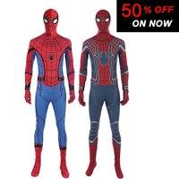 Halloween Sale Costume Cosplay Spider Man Costume Superhero Jumpsuit Fancy Costume Spiderman Men Free Shipping