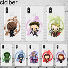 ciciber Marvel Thor Cover For Xiaomi MIX MAX 3 2 1 S Pro MI A2 A1 9 8 6 5 X 5C 5S Plus Lite SE Pocophone F1 Phone Case TPU Coque(China)