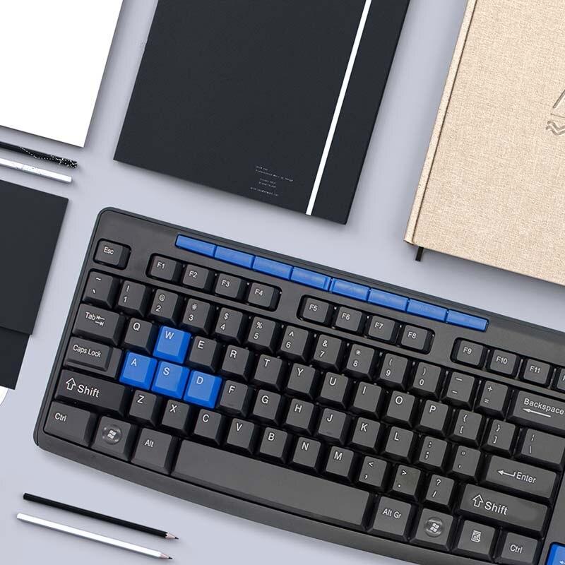 Guho Водонепроницаемый Беспроводной Gaming Keyboard И Мышь Combo 2.4 г USB синий Mause механическая клавиатура мультимедиа Смарт Мощность экономии