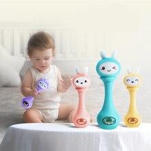 Игрушки для новорожденных, 6-12 месяцев, погремушки, игрушка для малышей, головоломка, музыкальный мигающий светильник, дрожащая рука со звуком колокольчиков, ритм индукции