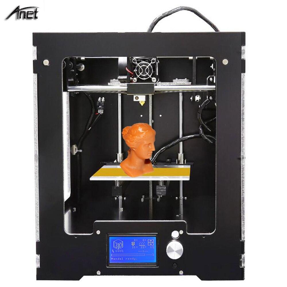 Haute Qualité D'impression Anet A3S 3D Imprimante De Bureau Entièrement Assemblé 3D Imprimante Taille De Travail 150*150*150mm cadre en métal 0.4mm Buse