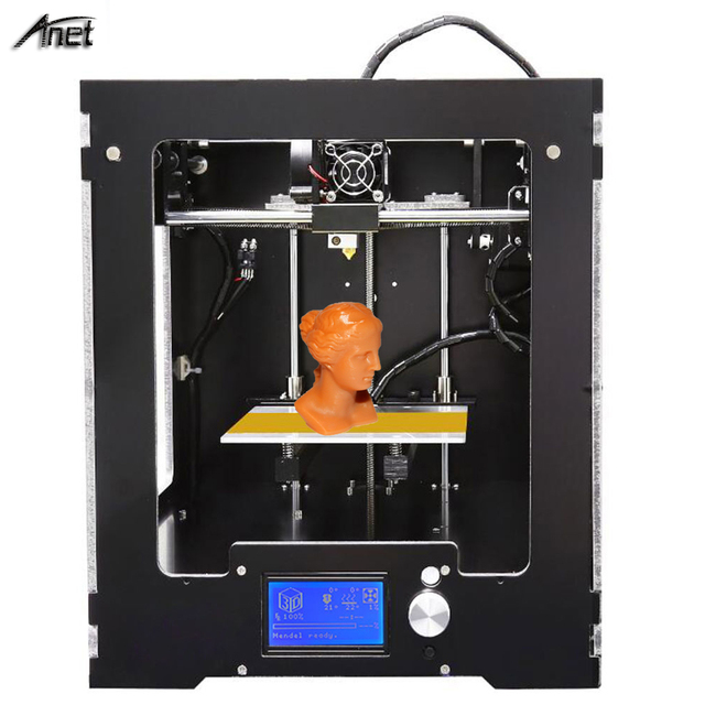 High Printing Quality Anet A3S 3D Printer Desktop Full Assembled 3D Printer Working Size 150*150*150mm Metal Frame 0.4MM Nozzel