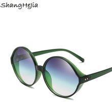 b47680f4da 2018 Oversized Round Sunglasses Women Brand Designer Woman Sun Glasses  Fashion Summer Gafas Feminino Oculos De