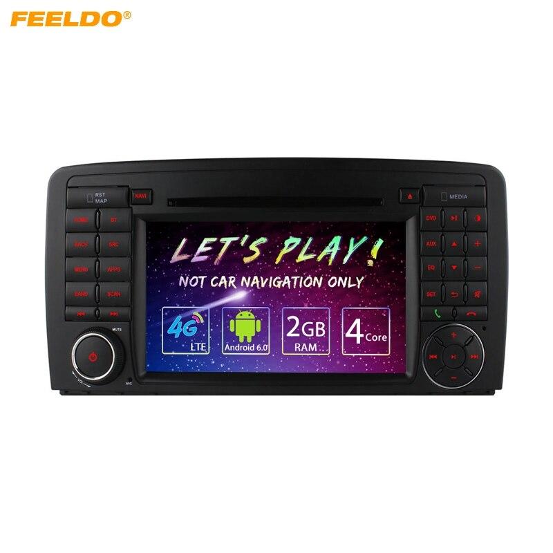 "FEELDO 7 ""-дюймовый Android 6,0 DDR3 2 г/16 г/4 г LTE 4 ядра автомобильный DVD gps радио головное устройство для Mercedes Benz R W251 R280/R300/R320/R350"