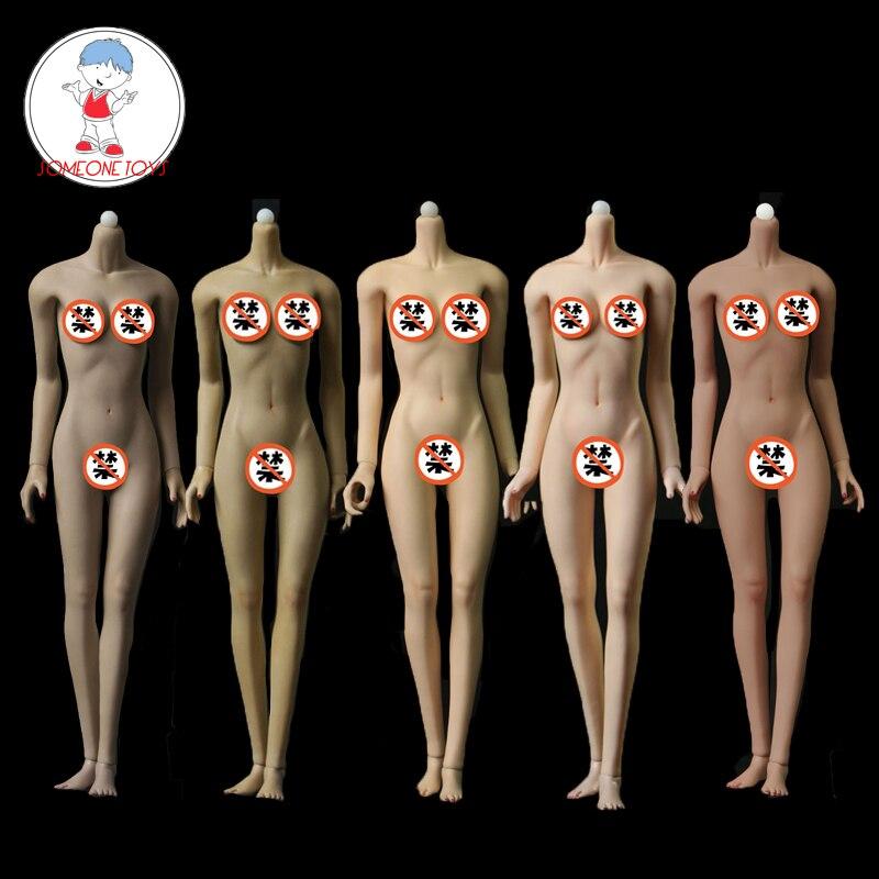 JIAOU DOLL 1/6 Scale หน้าอกกลางหญิง Figurine 3.0 Super ยืดหยุ่น Seamless Body ไหล่แคบสำหรับตัวเลขการกระทำ-ใน ฟิกเกอร์แอคชันและของเล่น จาก ของเล่นและงานอดิเรก บน   1