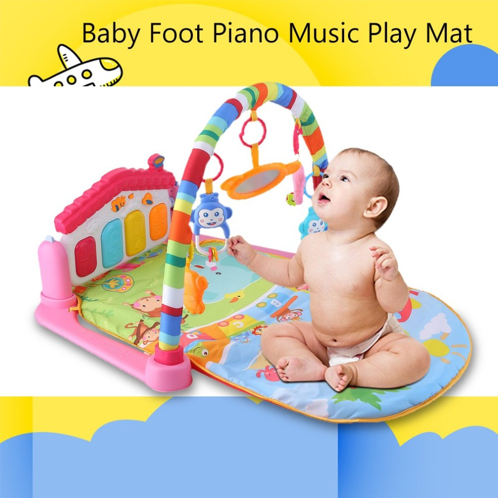 2018 New Baby Play Mats Rug Toy with Keyboard Infant Carpet Education Rack Toys Kids Crawling Music Play Game Developing Mat