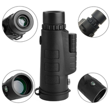 Cheaper Outdoor 12*50 HD Dual Focus Optical Monocular Camera Lens Telescope With Tripod Cell Phone Holder For Hiking Hunting Camping