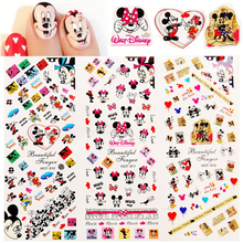 цена на 1 Sheet Cartoon Mouse Stickers Nail Art Water Transfer Decals Nail Tips Foil Designs 3D Manicure Sticker Nail Decorations HOT310