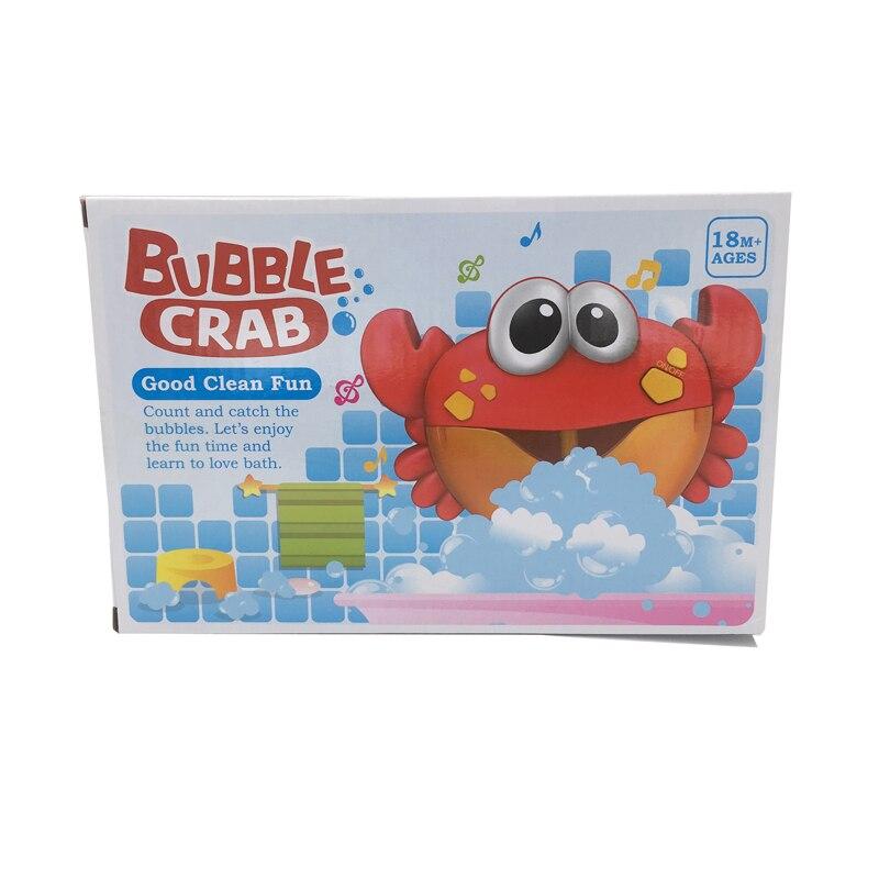 Dropshipping Blase Krabben Musik Kinder Pool Schwimmen Badewanne Seife Maschine Automatische Blase Maker Baby Bad Spielzeug