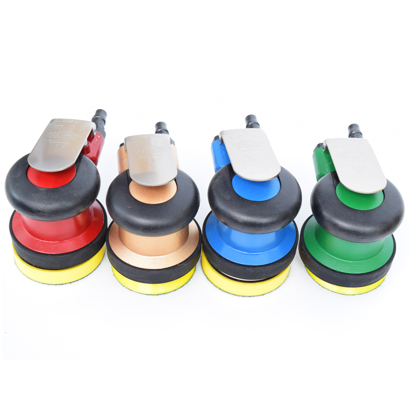 цена на OEM Mini Pneumatic Tools Air Tools Palm Random Orbital Sander Polisher 3 Inch 4 Inch Circle Round Pad 75mm 100mm new color