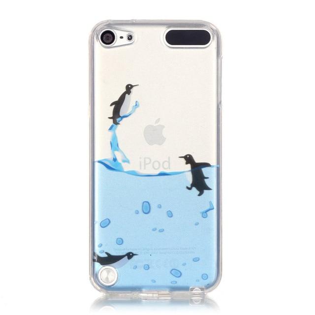 Para Apple iPod touch5 caso transparente de silicona TPU piel ...