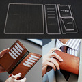 Acrylic Leather Template Home Handwork Leathercraft Sewing Pattern Tools Accessory A long wallet with a wallet 9.5*19.5*2cm