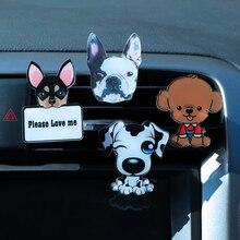 Car Perfume Clip Cute Cartoon Plastic Dog Ornament Decoration Vent Air Freshener Diffuser Scent Interior Accessories