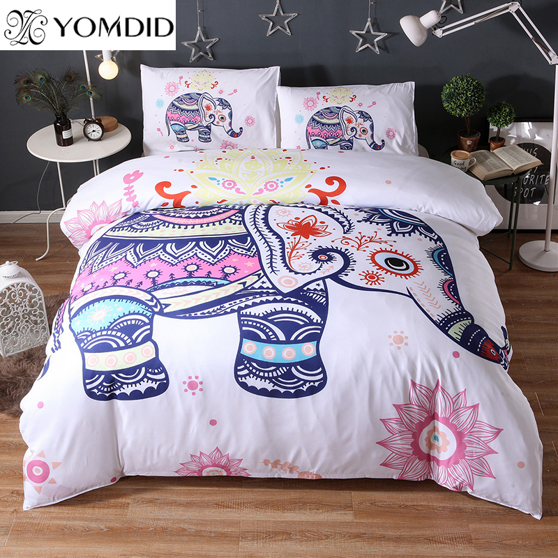 3D Animals Bedding Sets Lion Wolf Horse Printed 3pcs Duvet Cover Pillow Case set Twin Full Queen King Indian Bohemia Bedding set