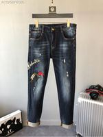 2018 new High Quality fashion Jeans Runway Summer man Brand Luxury Men's Clothing A07646
