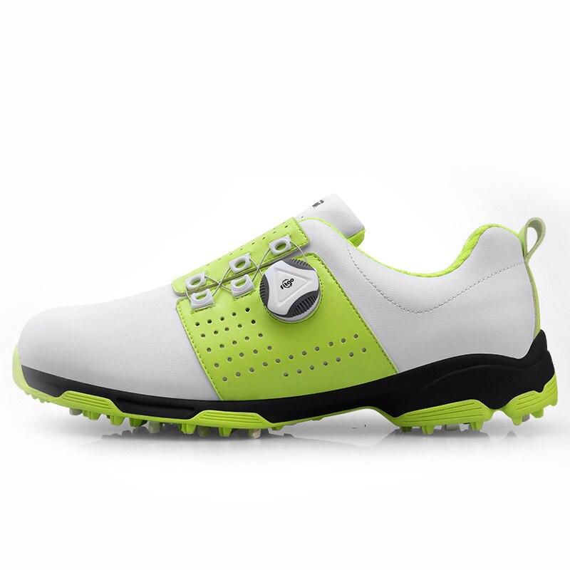 Golf Schuhe Männer Wasserdichte Frühling Herbst Anti-slip Leder Schuhe Sport Turnschuhe Männer Golf Training Schuhe Freies Verschiffen Atmungs