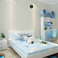 Non Woven European Embossed Desktop Wallpapers Roll Fabric Floral Wallpaper Living Room Girl Room Kitchen Striped