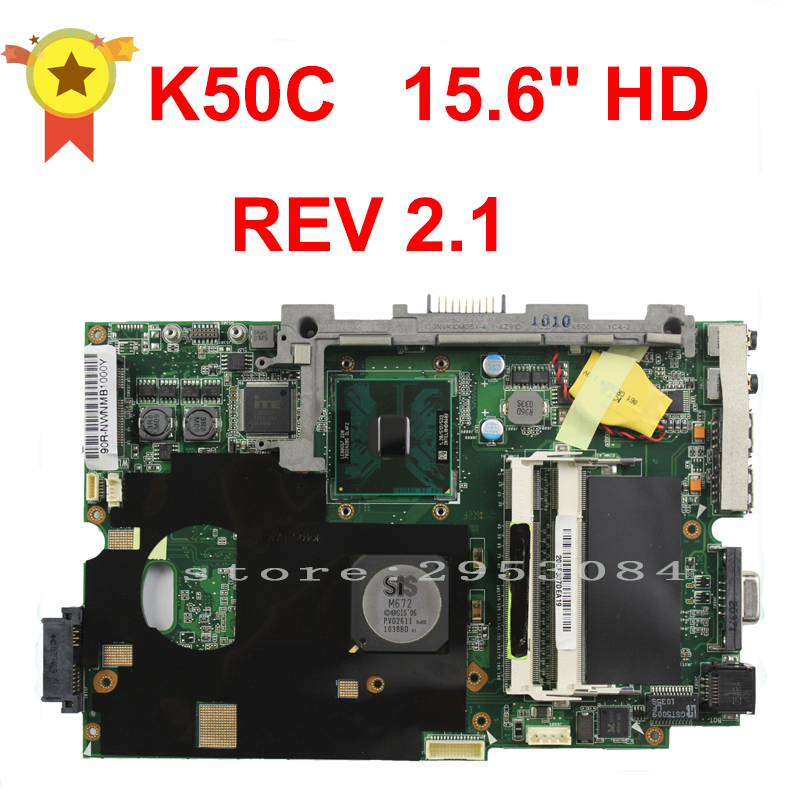 Free Shipping For ASUS K50C Laptop Motherboard Mainboard 100% Works Well for msi ms 10371 intel laptop motherboard mainboard fully tested works well