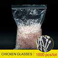 komorebi 1000 Pcs Farm Equipment Chicken Nose Bolt Chicken Glasses Prevent Rooster Eating Hen Feed 6.9cm Chicken Farming Tools