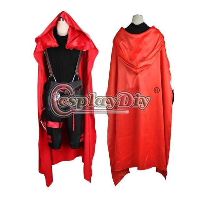 Cosplaydiy Red Ruby Rose Male Rwby Cosplay Costume Adult Halloween
