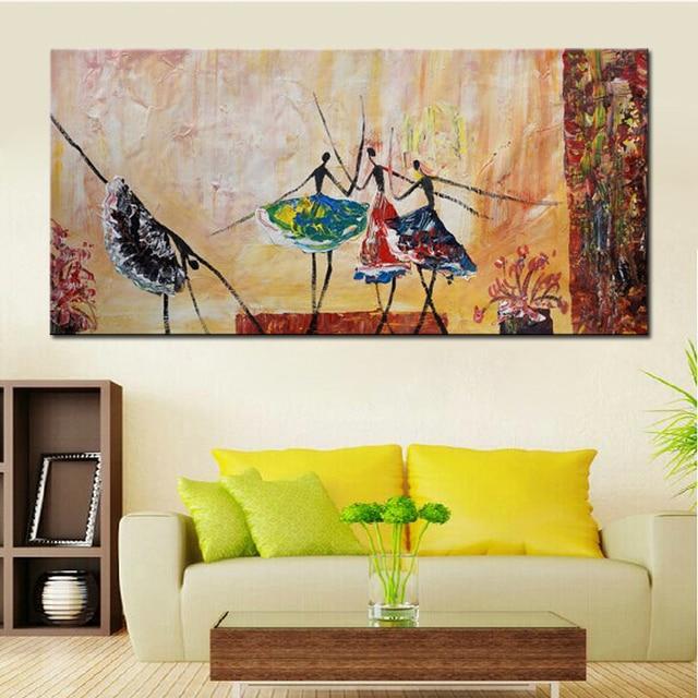ballet cuadros decorativos para sala de estar hecho a mano moderno abstracto pinturas al leo. Black Bedroom Furniture Sets. Home Design Ideas