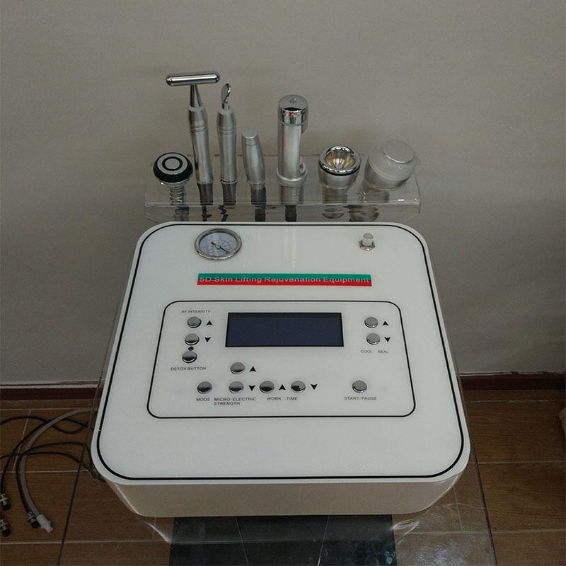 Machine faciale multifonctionnelle de dispositif de réchauffement de peau de microdermabrasion de diamant de beauté de 7 en 1