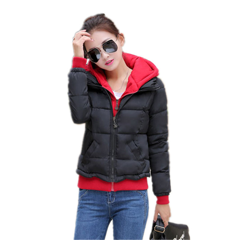 Women's Jacket Winter 2016 New Student Hooded Short Down Cotton Parka Plus Size Coat Slim Thin Ladies Casual Clothing Hot Sale