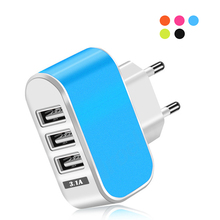 3ports USB 5V/2A Charger 3.1A for Android smartphone USB Wall Charger for Samsung S8 S9 Hu