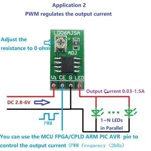 Image 4 - Conversor de corrente constante ajustável do controlador DC DC do motorista pwm do diodo emissor de luz de 10 pces dc 3 v 6 v 30 1500ma