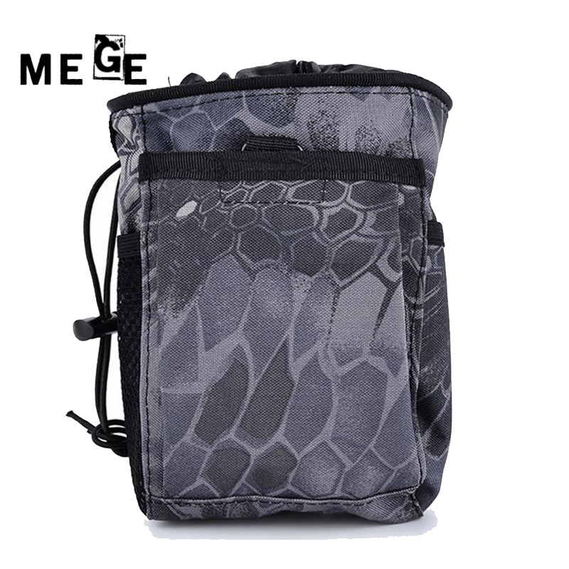 MEGE Tactical Hunting Rifle Magazine Pouch, Military Molle Ammo Pouch Gun Dump Drop Reloader Pouch Bag Utility 1000d molle admin magazine ammo storage pouch airsoft tactical utility dump drop pouch w belt loops edc gear waist bag