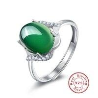 Beauty Cubic Zircon Pendants Hot Sale White Stone Fashion Gifts Big Green Emerald Rings Platinum Plating
