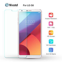 Nicotd Screen Protector For LG G6 Glass Phone Glass Tempered For LG G6 5.7 inch Screen Protector G 6 H870 H873 Anti Scratch Film(China)