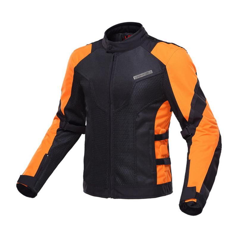 DUHAN Motorcycle Jackets Summer Breathable Riding Racing Outdoor Sprots Protective Motocross Jacket With Five Protector Guards duhan men s motocross outdoor riding reflective desgin waistcoat clothing motorcycle jackets summer racing vest jaqueta