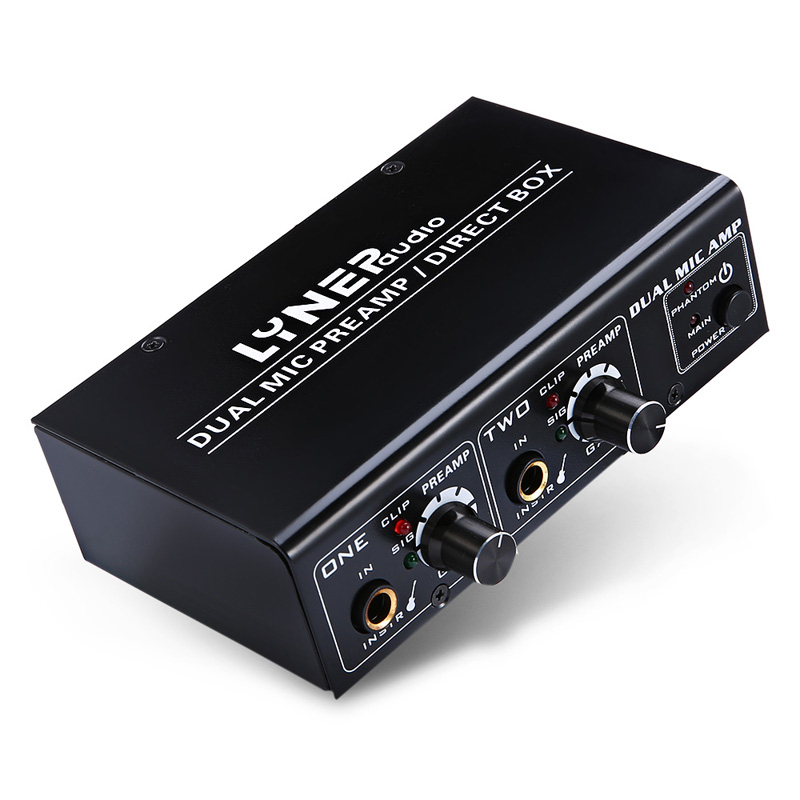 2 Way Microphone Amplifier Electric Guitar Bass Amp US Plug XM662 Way Microphone Amplifier Electric Guitar Bass Amp US Plug XM66