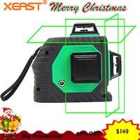Xeast 12 линий зеленый луч 3D 360 градусов роторная стена Multi cross Line Авто самонивелирующийся лазерный измеритель уровня инструмент машина