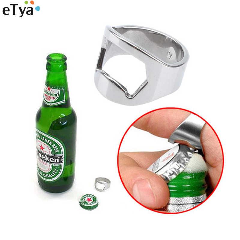 ETya ouvre-bouteille de bière en forme d'anneau   En acier inoxydable, ouvre-bouteille de doigt allemand Oktoberfest, Festival de bière, montre d'été, football 1 pièce