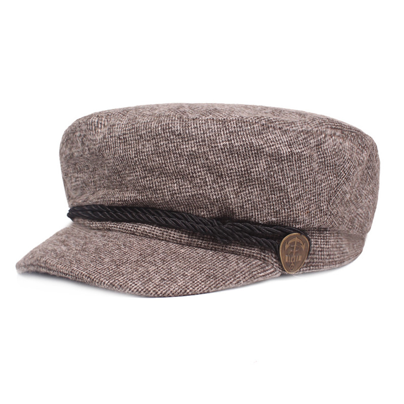 SILOQIN Elegant Newsboy Caps Fashion Flat Cap For Men And Women Sombrero Autumn Winter Men 39 s Army Hat Simple Trend Women 39 s Hats in Men 39 s Newsboy Caps from Apparel Accessories